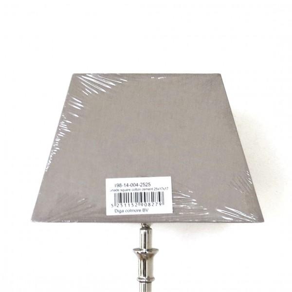 Lampenschirm Leuchtenschirm Modern Zement Hellgrau Beton Grau Trapez E27 Colmore
